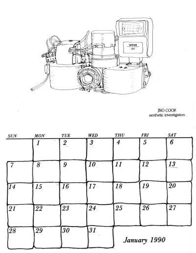 1990 Calendar.Jno Cook 1990 Calendar